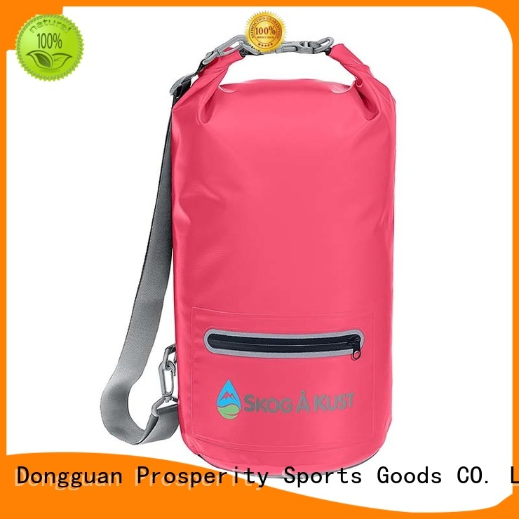 Prosperity dry bag with adjustable shoulder strap for kayaking