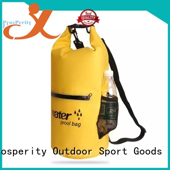 Prosperity sport dry bag with strap with innovative transparent window design for rafting