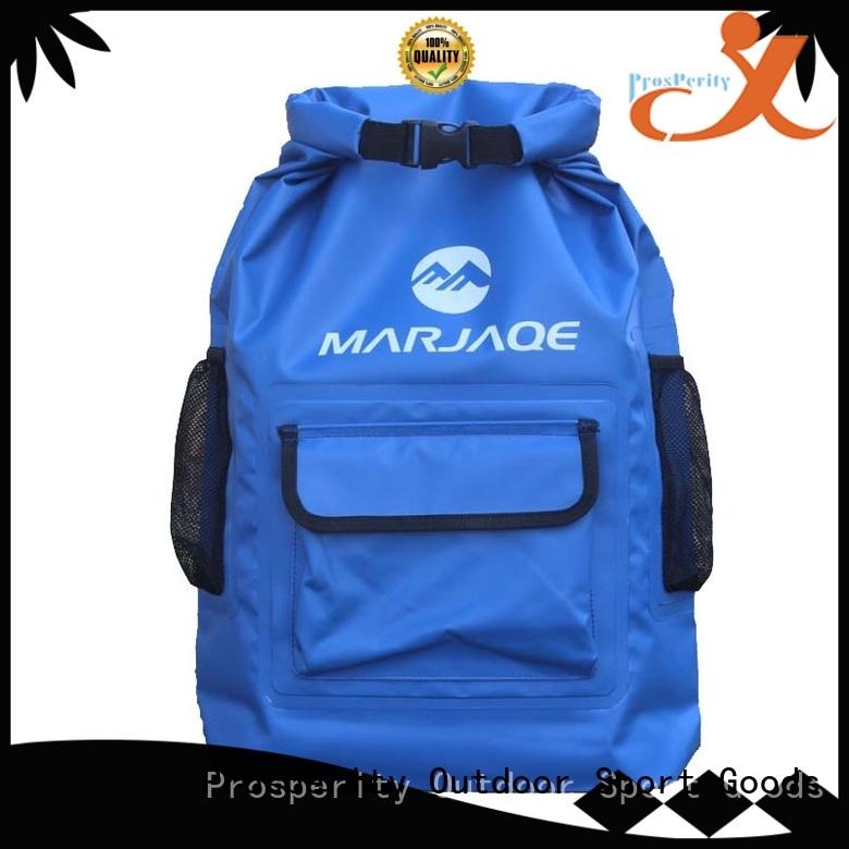 Prosperity floating dry pack bag with adjustable shoulder strap for fishing