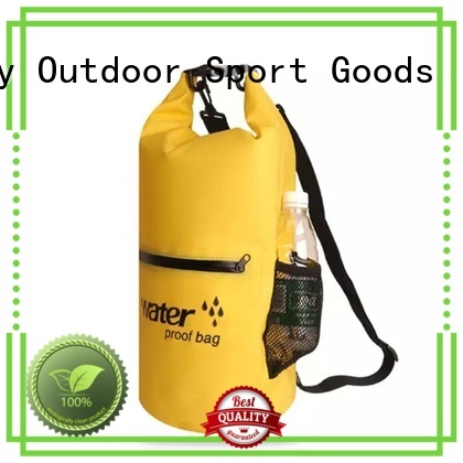 Prosperity outdoor dry bag backpack with innovative transparent window design open water swim buoy flotation device