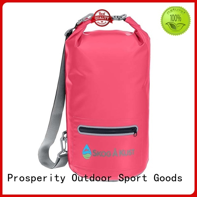 polyester dry pack with adjustable shoulder strap for fishing