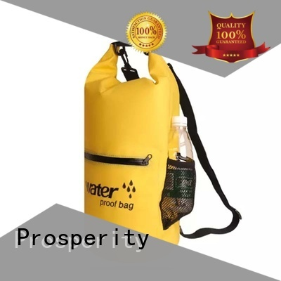 Prosperity dry pack bag with adjustable shoulder strap for fishing