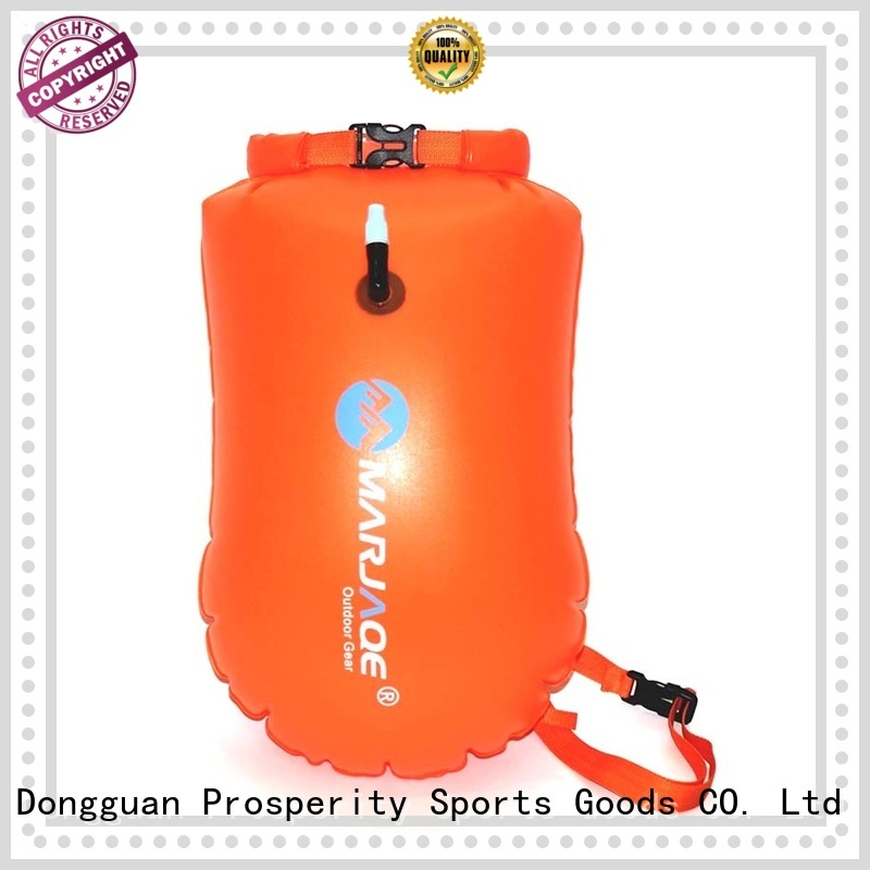 Open water swim buoy flotation device with dry bag  for swimmers