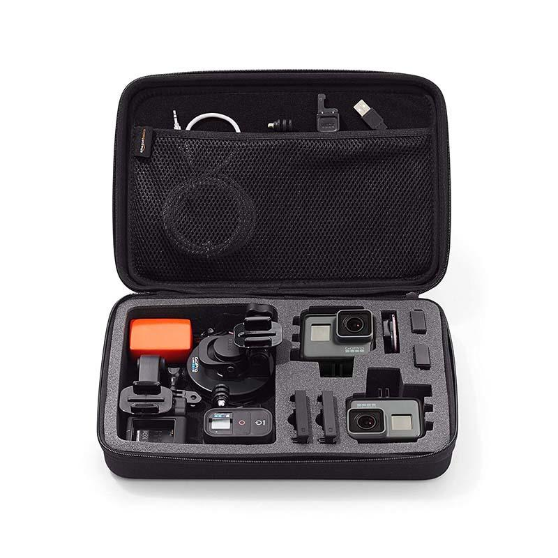 Prosperity black EVA case disk carrying case for gopro camera-2
