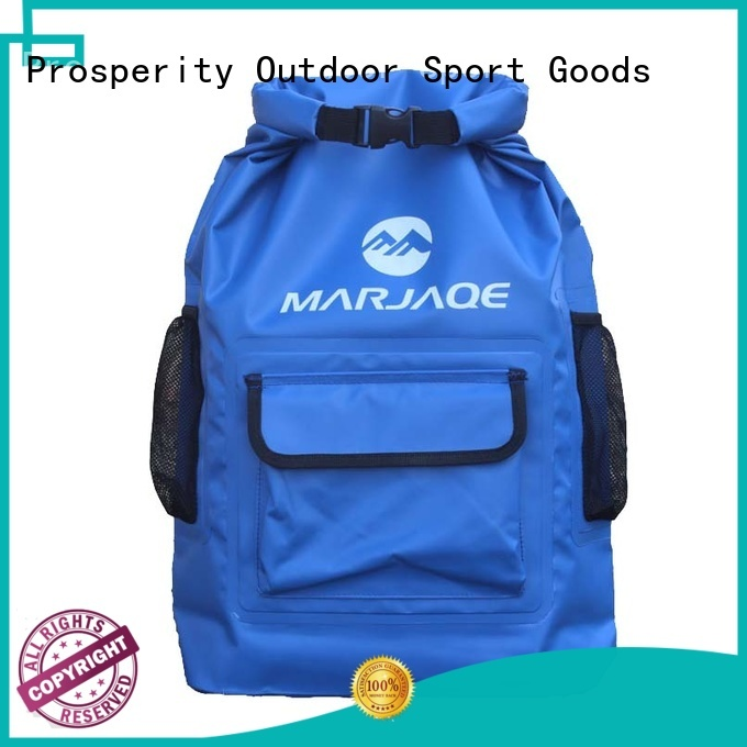 Prosperity outdoor dry bag backpack with innovative transparent window design for boating