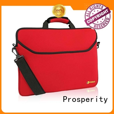 Prosperity custom neoprene bags with accessories pocket for travel
