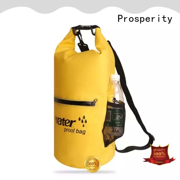 Prosperity custom dry backpack with innovative transparent window design open water swim buoy flotation device