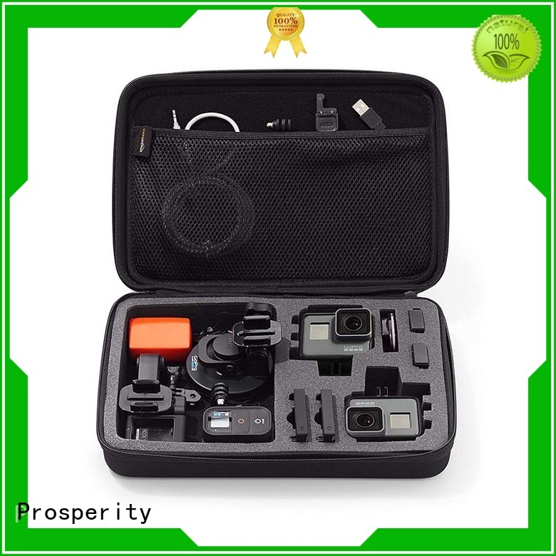Prosperity black EVA case disk carrying case for gopro camera