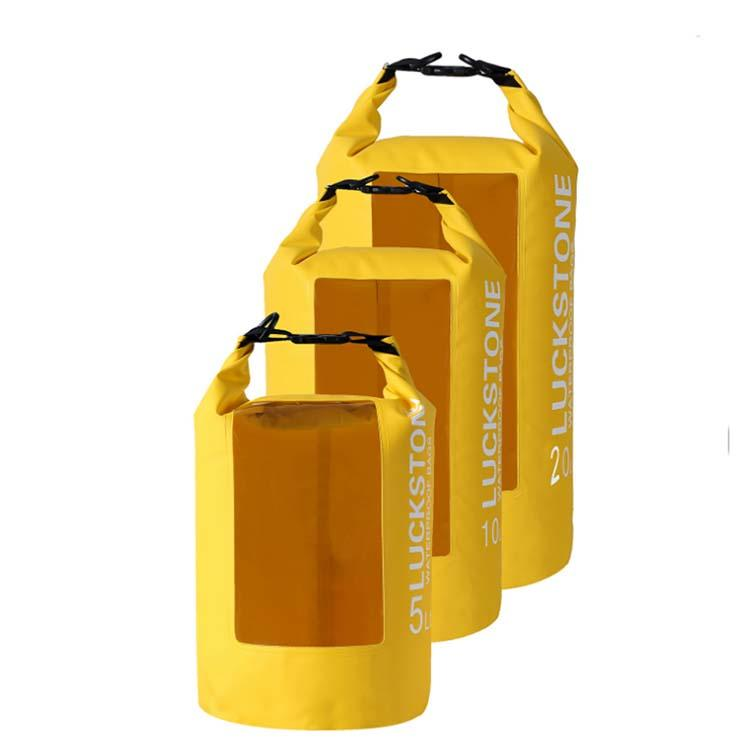 Prosperity best dry bag with innovative transparent window design open water swim buoy flotation device-2