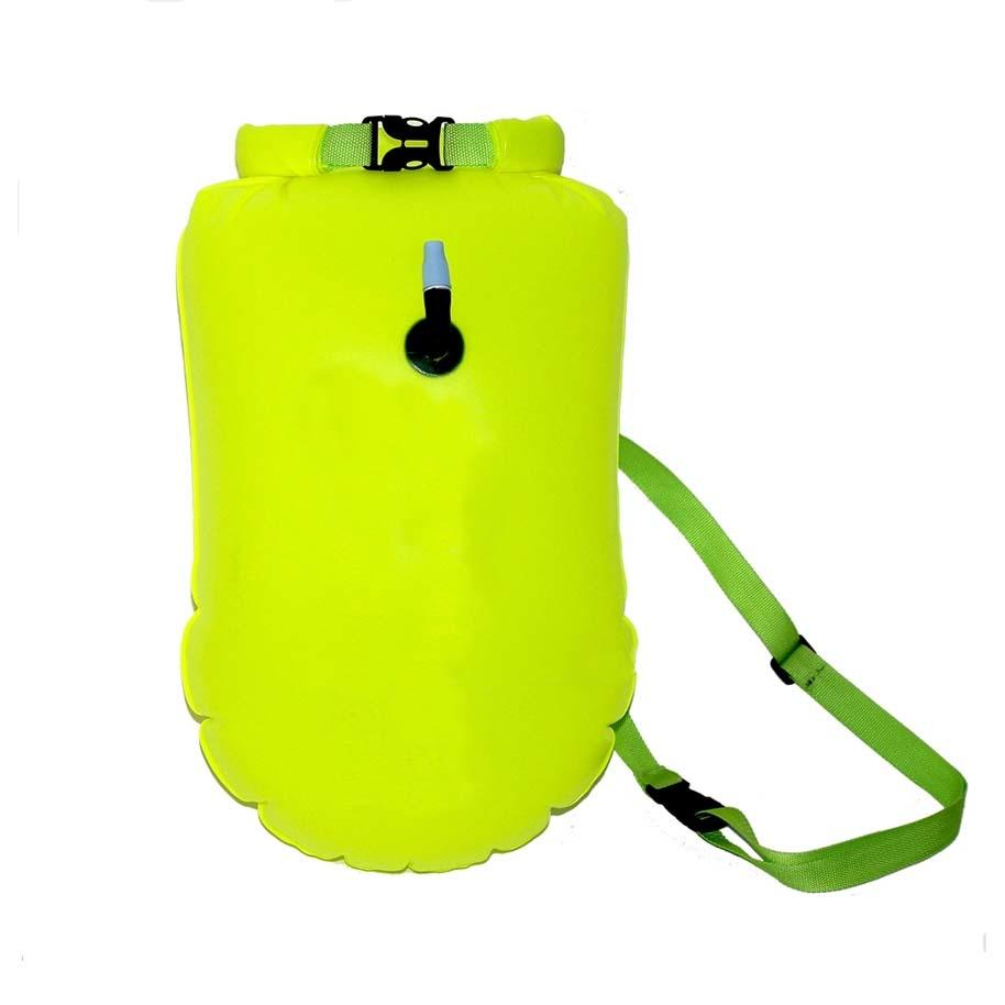 floating dry pack with adjustable shoulder strap open water swim buoy flotation device-1
