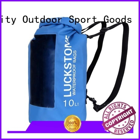 Prosperity dry bag with strap with adjustable shoulder strap open water swim buoy flotation device