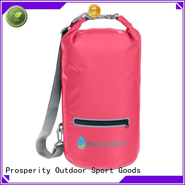 outdoor dry bag with innovative transparent window design for rafting