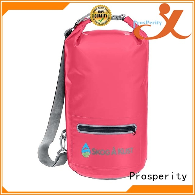 Prosperity best dry bag with adjustable shoulder strap for boating