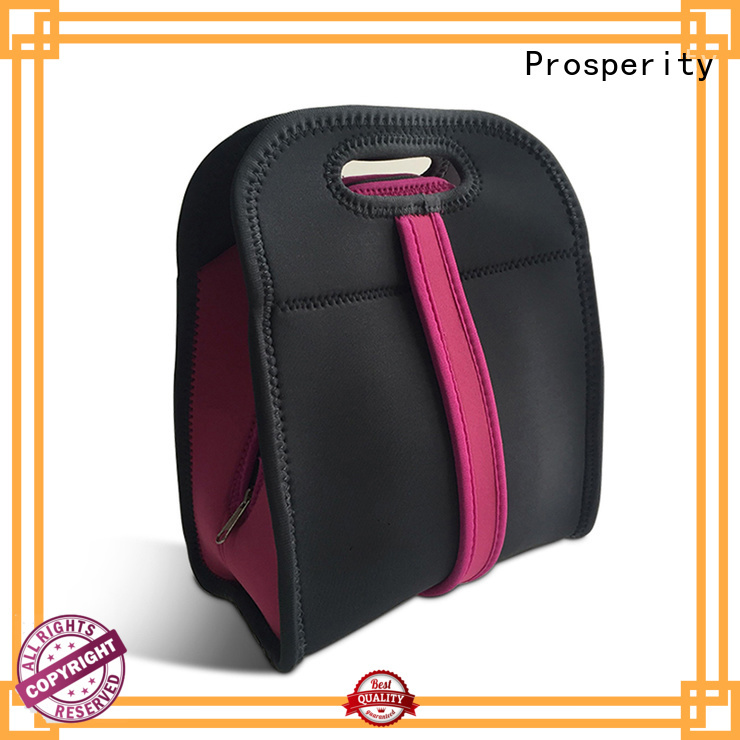 Prosperity lunch neoprene bags carrier tote bag for hiking