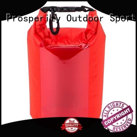 Prosperity dry pack bag with adjustable shoulder strap for kayaking