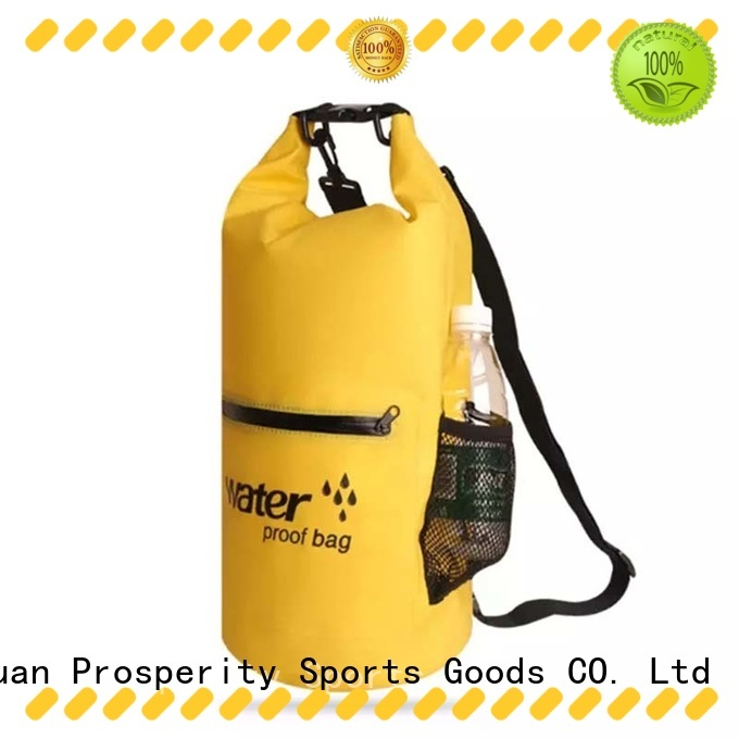 Prosperity polyester dry bag with strap with innovative transparent window design for kayaking