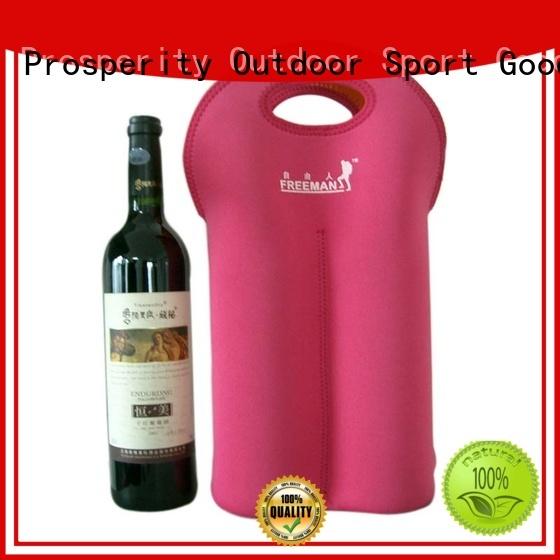 Prosperity double neoprene travel bag water bottle holder for hiking