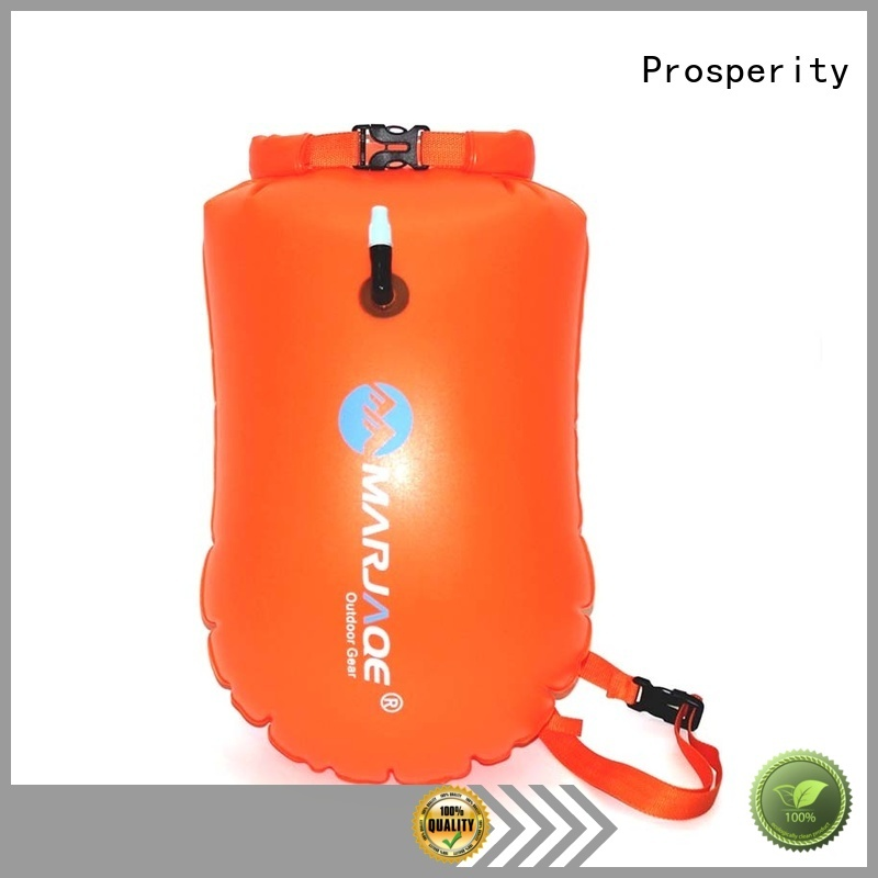 floating dry pack with adjustable shoulder strap open water swim buoy flotation device
