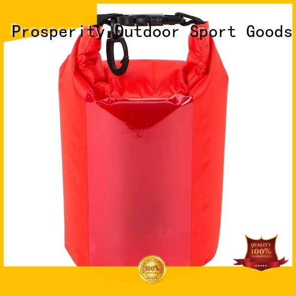 Prosperity dry bag with adjustable shoulder strap open water swim buoy flotation device