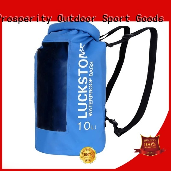 Prosperity drybag with innovative transparent window design for rafting