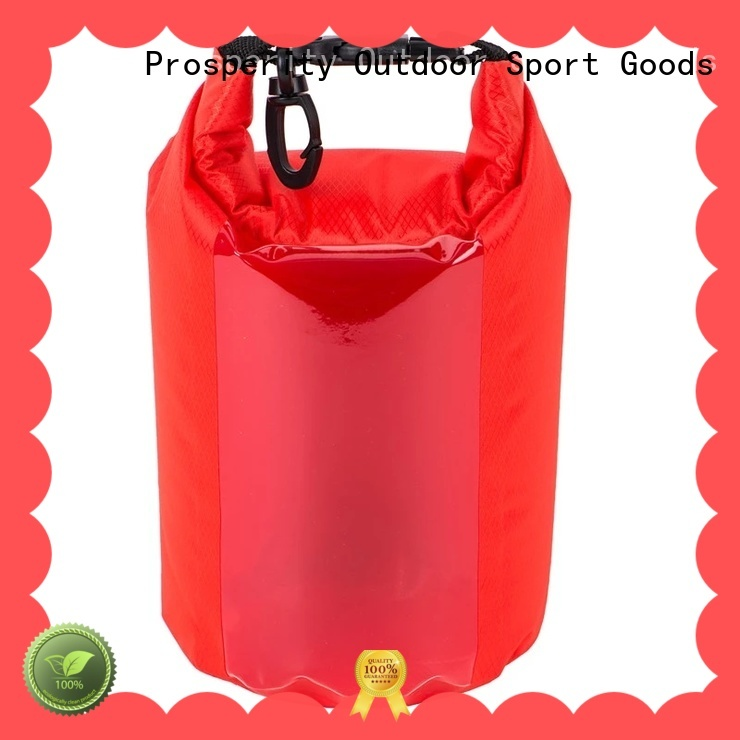 Prosperity dry bag with strap with innovative transparent window design for boating