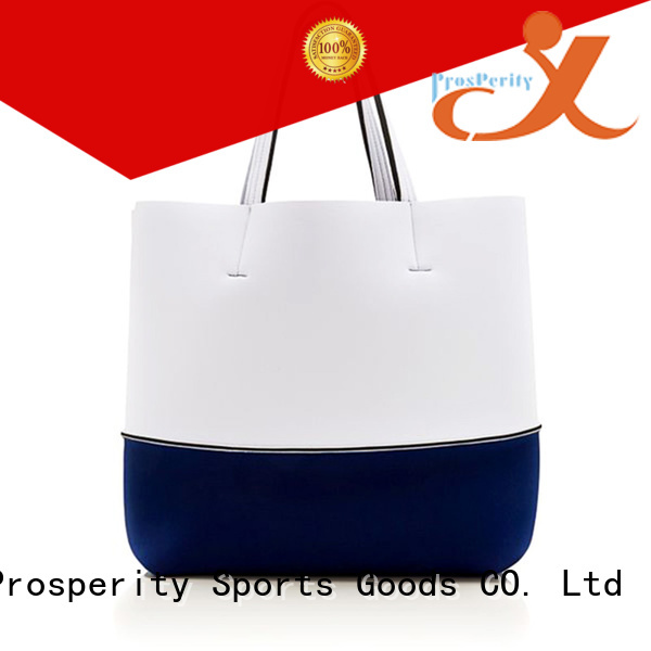 large neoprene bag manufacturer with accessories pocket for travel