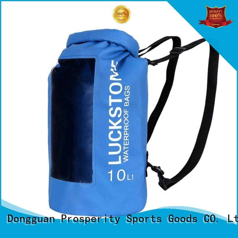 Prosperity outdoor dry bag with adjustable shoulder strap open water swim buoy flotation device