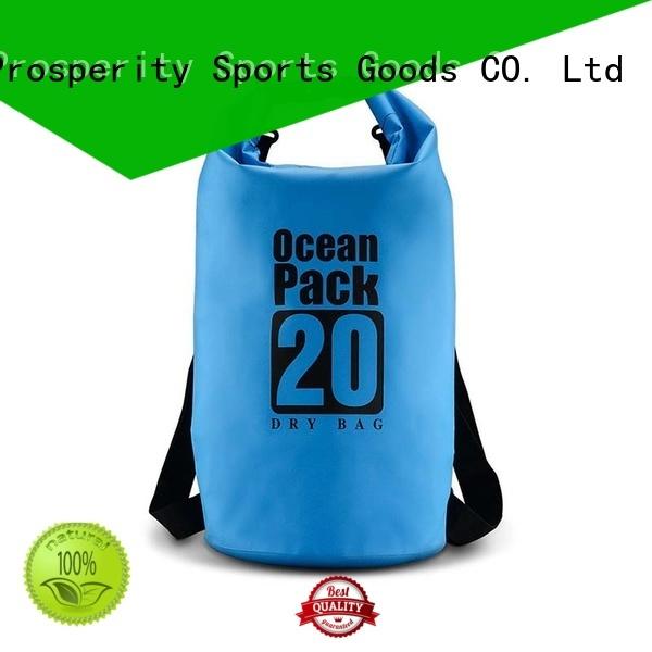 Prosperity dry bag with adjustable shoulder strap for kayaking