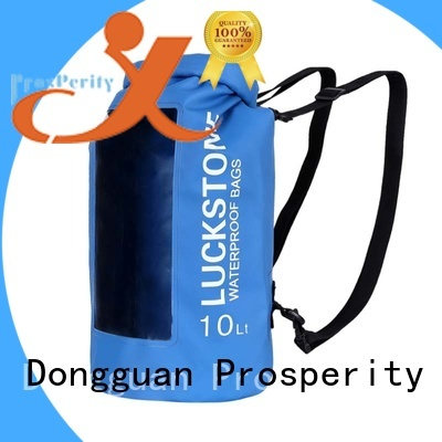 Floating waterproof dry bag with  innovative transparent window design