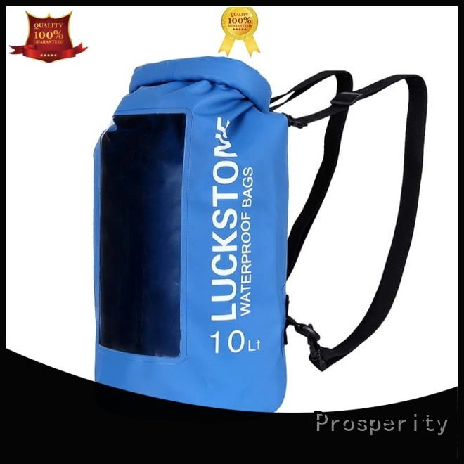 Prosperity best dry bag with innovative transparent window design open water swim buoy flotation device