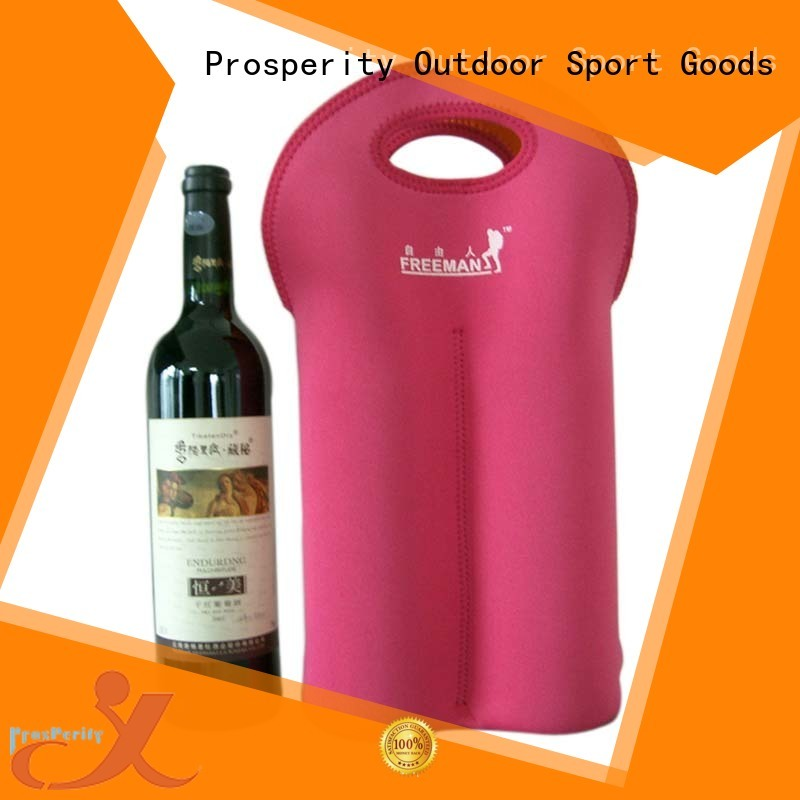 Prosperity wine Neoprene bag with accessories pocket for travel