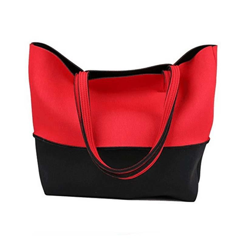 Fashion neoprene beach  tote bags  for travel and hiking-3