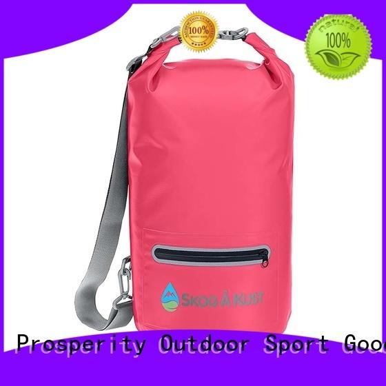 Prosperity outdoor best dry bag with adjustable shoulder strap for boating