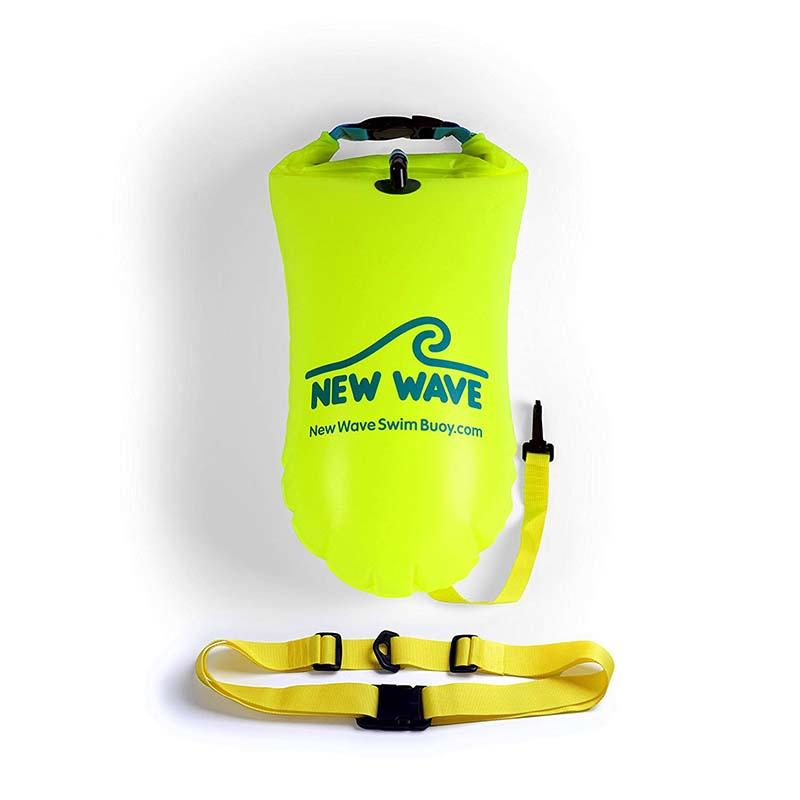 floating dry pack with adjustable shoulder strap open water swim buoy flotation device-2