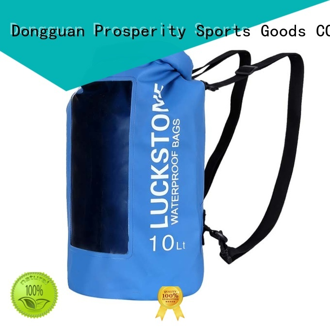 Prosperity light dry pack with adjustable shoulder strap open water swim buoy flotation device