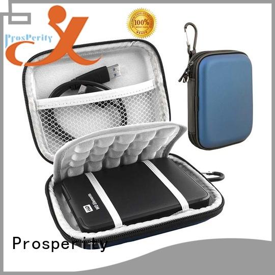 Prosperity waterproof custom eva case with strap for switch