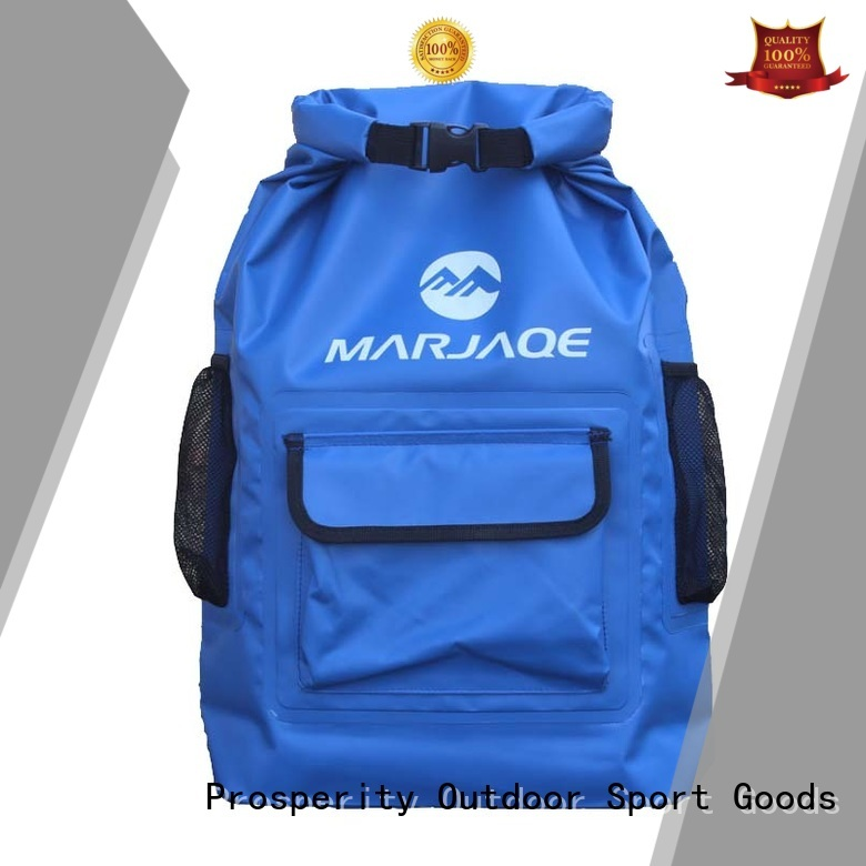 Prosperity outdoor dry pack bag with innovative transparent window design for kayaking