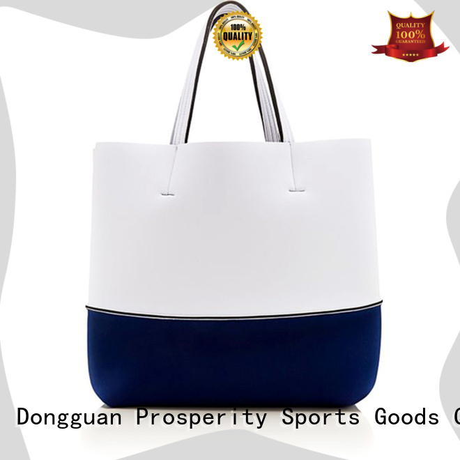 Prosperity double small neoprene bag beach tote bags for hiking