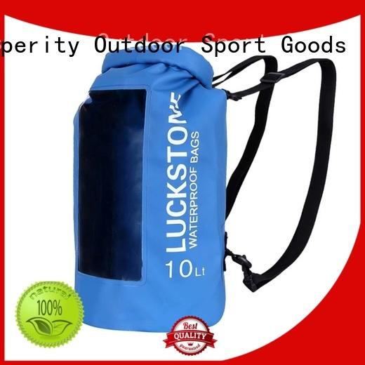 Prosperity light dry pack bag with adjustable shoulder strap for fishing