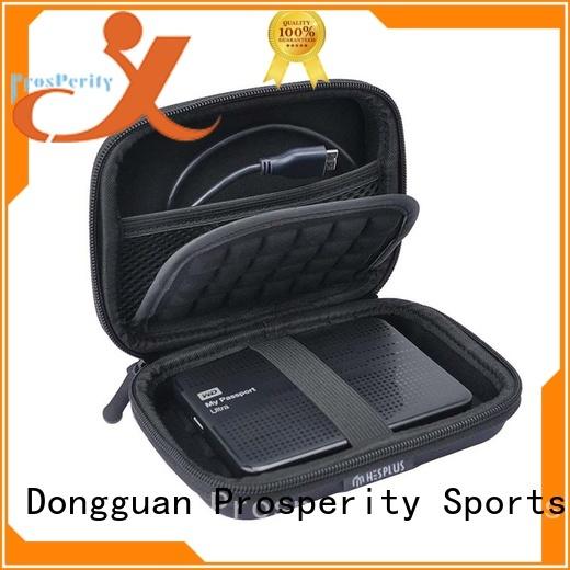 Prosperity pu leather hard eva case speaker case for hard drive