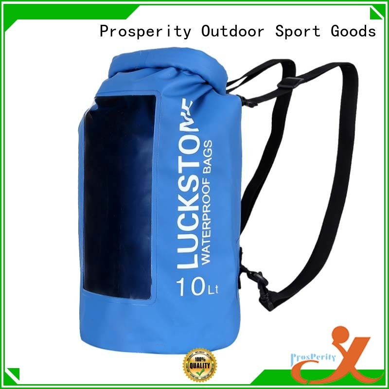 Prosperity dry pack with innovative transparent window design for rafting