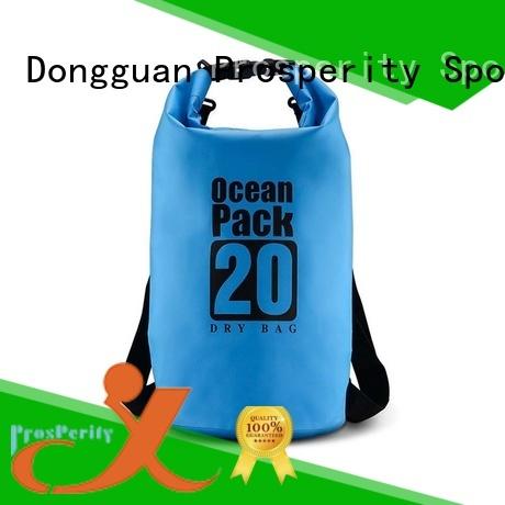 Prosperity outdoor dry bag with adjustable shoulder strap for kayaking