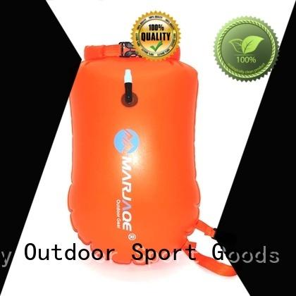 sport dry pack bag with adjustable shoulder strap open water swim buoy flotation device