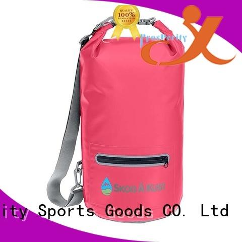 Prosperity dry bag with adjustable shoulder strap for rafting