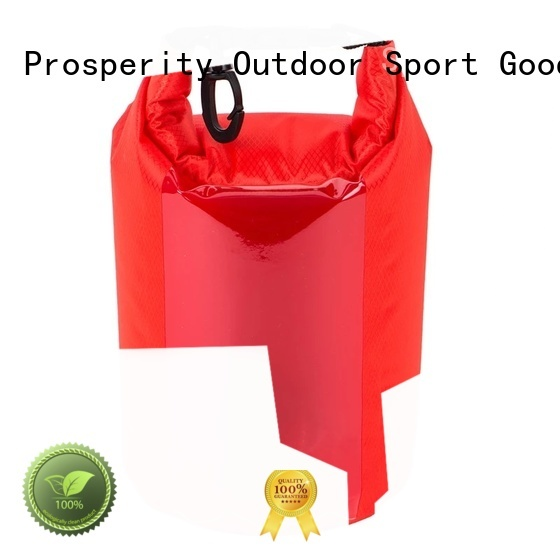 Prosperity dry bag with strap with innovative transparent window design for rafting
