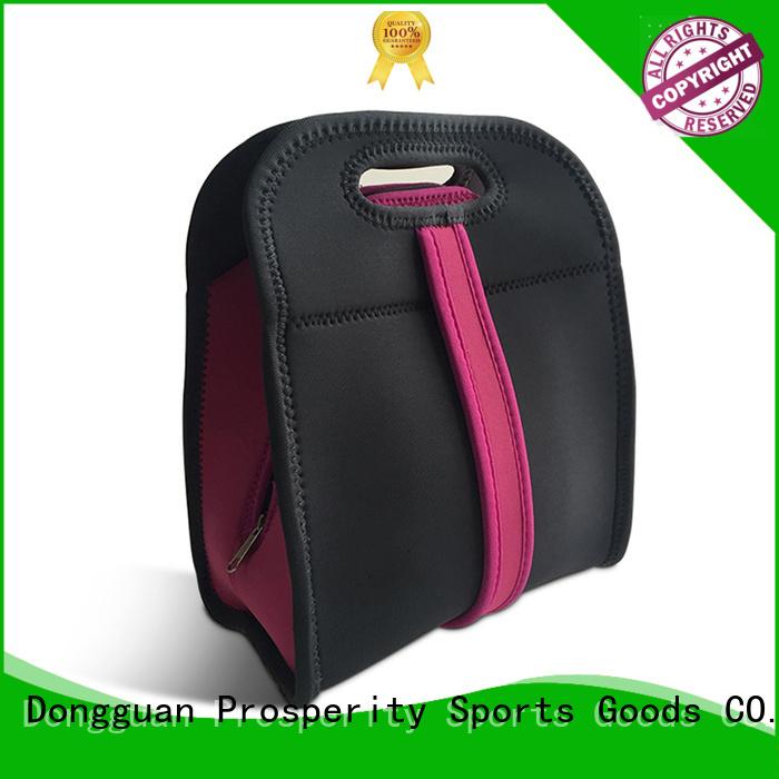 Prosperity wine custom neoprene bags with accessories pocket for sale