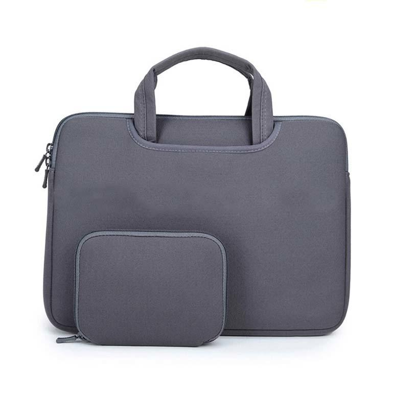 Neoprene laptop  handle sleeve   with accessories pocket-1