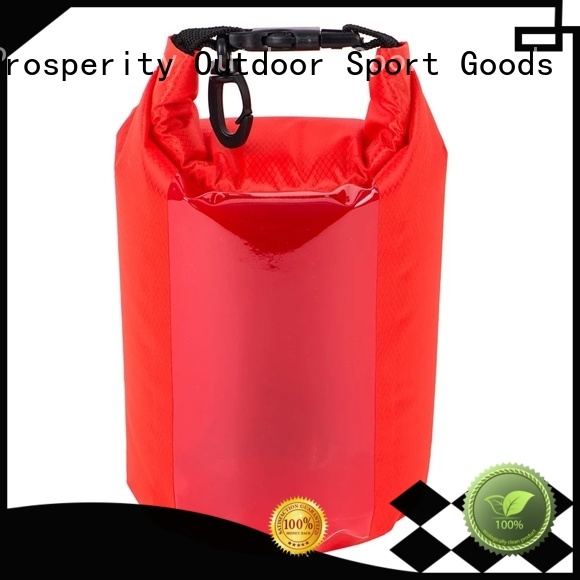 Prosperity best dry bag with innovative transparent window design open water swim buoy flotation device
