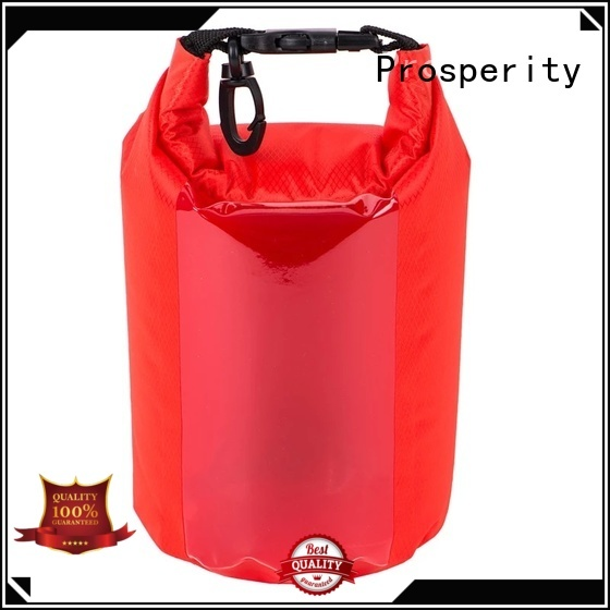 Prosperity dry pack bag with adjustable shoulder strap for fishing