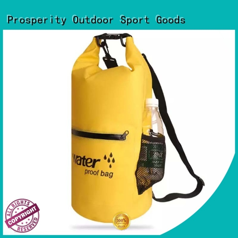Prosperity dry pack bag with adjustable shoulder strap for rafting